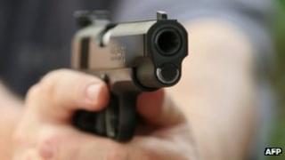 Colt .45 semi-automatic pistol (file image)