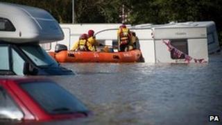 Flooding in Aberystwyth (9/6/12)