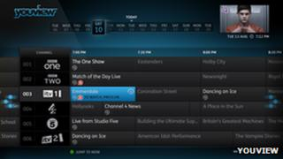 YouView interface