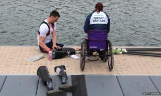 Team GB rower Nick Beighton, who lost both legs in an explosion in Afghanistan 2009