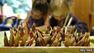 Children drawling