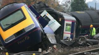 Ufton Nervet rail crash in November 2004