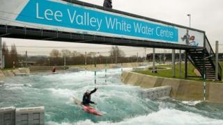Canoeist at Lee Valley White Water Centre