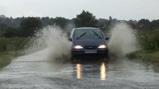 Standing water in Oxfordshire