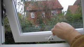 Double glazed window in house