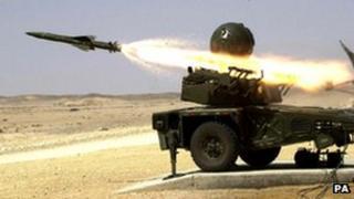 Rapier missile firing