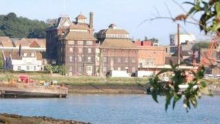 The old Tolly Cobbold brewery in Ipswich