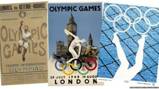 Posters from the 1908, 1948 and 2012 Olympic Games (Pix: International Olympic Committee)