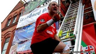 IoMFire 24 hour ladder climb