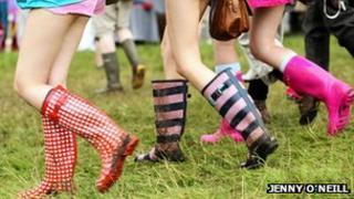 Wellington boots at Latitude Festival