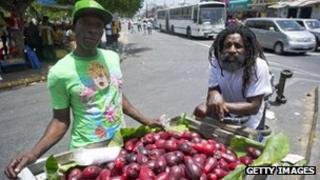 Street vendor in Kingston
