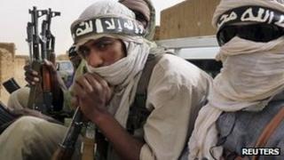 Militiaman from the Ansar Dine Islamic group in northeastern Mali