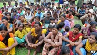 Villagers in Chhattisgarh