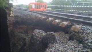 Partial bridge collapse in Allington, Lincolnshire