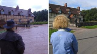 Babs Mitchenson in Millcroft Road Bodenham in 2007 (left) and in in 2012