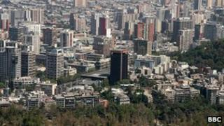 Santiago skyline (file photo from 2008)