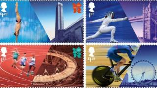 Olympic-themed stamps