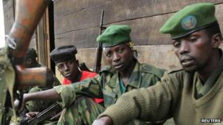 M23 rebel fighters in DR Congo (12 July 2012)