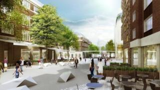 Computer-generate image of Eastgate Quarters