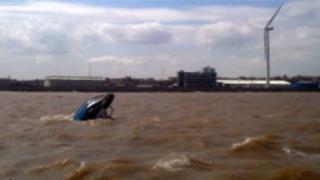 Sunken boat near Lowestoft