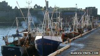 Fishing boats in Peel Harbour courtesy Manxscenes.com
