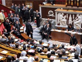 The French National Assembly in session, 11 July