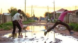 "Image of road in Soweto from the BBC World News programme Our World: ""Corruption crusader"""