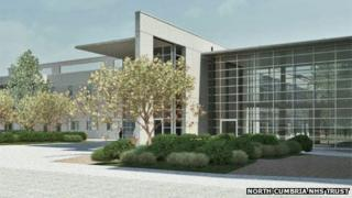 Artist's impression of the New West Cumberland Hospital