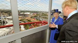 The Queen with Boris Johnson