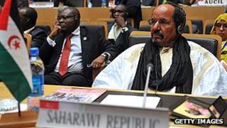 Leader of Saharan republic, Mohamed Abdelaziz