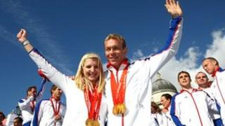 Rebecca Adlington and Chris Hoy