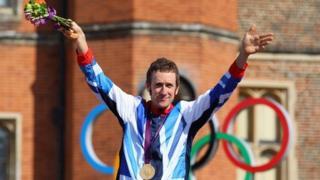 Bradley Wiggins with medal
