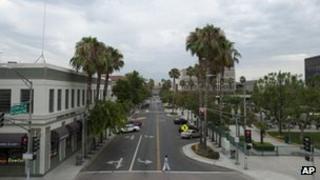 Street in San Bernardino, California 1 August 2012