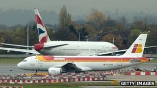 British Airways and Iberia planes