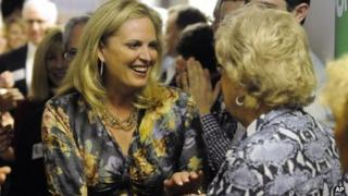 Ann Romney on a St David's Day campaign visit in Georgia