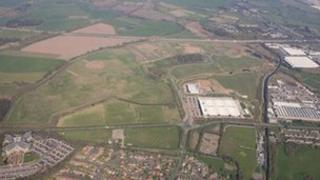 Aerial photo of i54 site