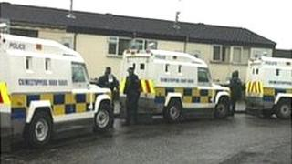 Searches were carried out on the Glen Road on Monday