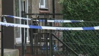 Police tape at Denhead Crescent in Dundee