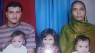 Siraj Khan and family