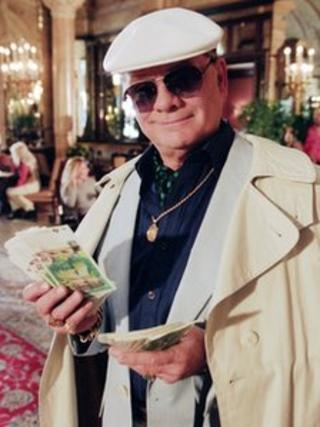 David Jason as Derek 'Del Boy ' Trotter in an Only Fools and Horses Christmas Special, 2001