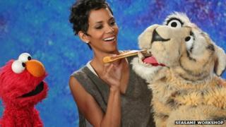 Halle Berry on Sesame Street