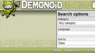 Demonoid screenshot