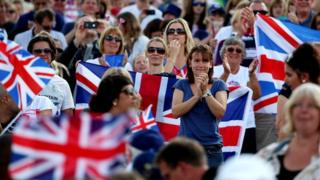 Crowds at 2012 Olympics