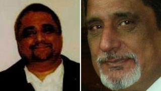 Zahir Aziz (left) and Shabir Choudary