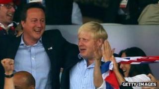 David Cameron and Boris Johnson at the Olympics