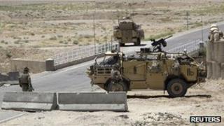 British troops in Afghanistan