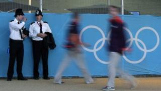 Police at Olympic venue