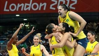 The Brazil women's volleyball team won gold at London 2012