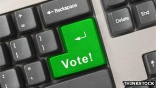 Computer keyboard with vote key