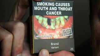 An example of what cigarette packets in Australia may look like